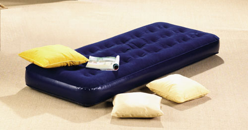 Single Size Flocked Air Bed (11801)