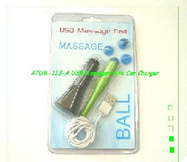 USB Massager with Car Charger (ATUM-113-A)