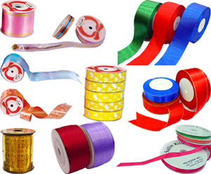 100% Polyester/ Nylon Satin Ribbons