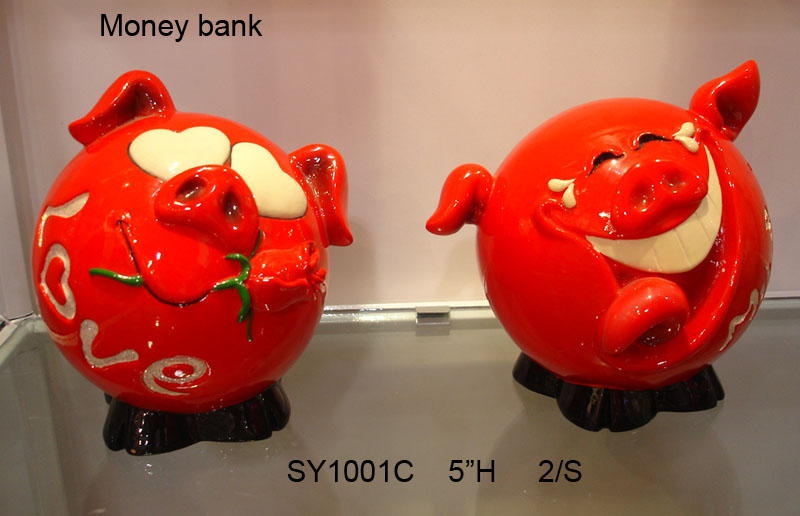 Polyresin Piggy Bank (Valentine Gifts)