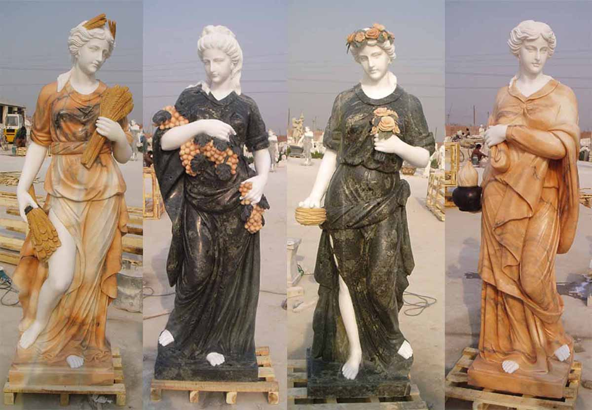 Marble Carving - People Statue