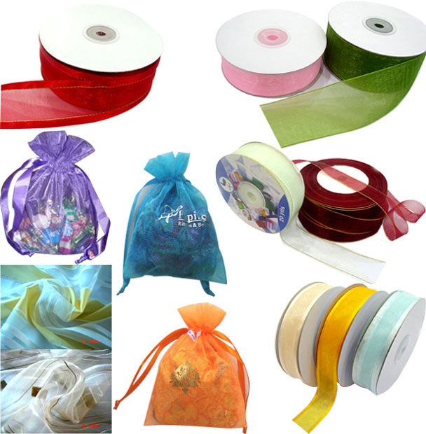 100% Nylon Organza Ribbon,Organza Fabric & Bag