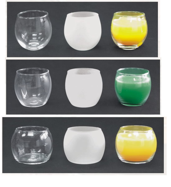 Glass Candle Cups