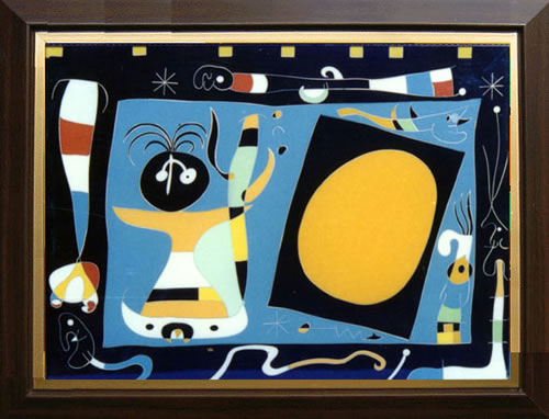 China Color Stone Inlaid Art Picture - Woman in the mirror (Miro)