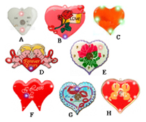 Heart Shape Badges