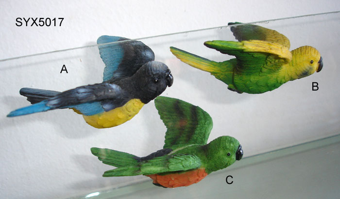 Polyresin 3d Window Magnet Flying Bird Syx5017
