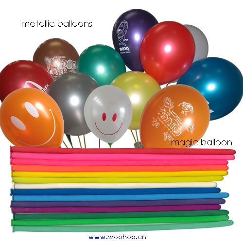 Metallic Balloons & Magic Balloons