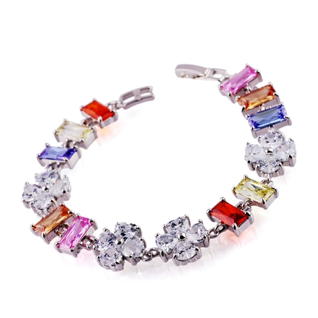 Fashion Jewelry - Alloy Bracelet with Zircons