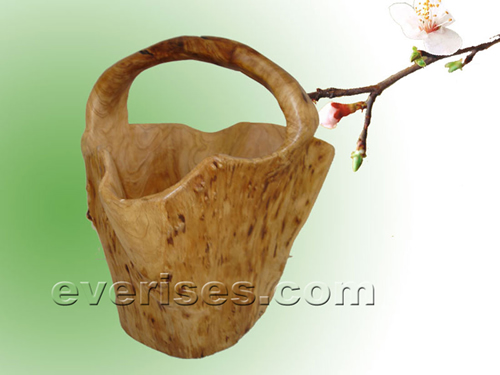 Natural Wooden Gift --- Root Carved Basket