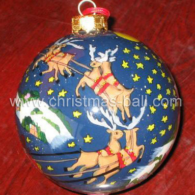 Christmas Glass Ball with Inner Painting