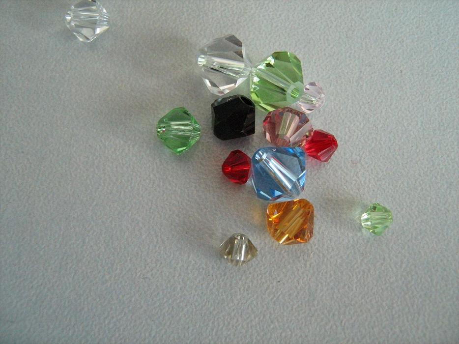 Glass Bicone Beads