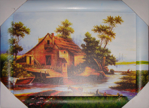 Wooden Framed Oil Painting