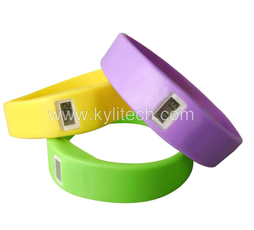 Silicone LCD Bracelet Watch