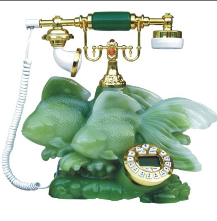 Antique Jade Telephone
